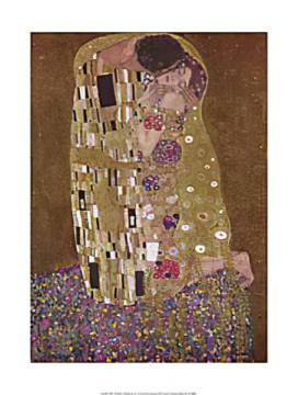 The Kiss of artist Gustav Klimt, Kiss