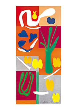Vegetables of artist Henri Matisse as framed image