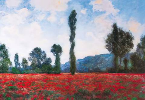 Campo di papaveri of artist Claude Monet as framed image