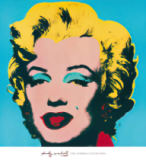 Shot Cyan Marilyn von Andy Warhol