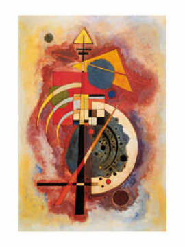 Hommage a Grohmann of artist Wassily Kandinsky, Abstract, Abstractedly, Abstractly, Artist, Artiste, Artists, Color, Colour