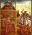 Cosimo Tura - St. George and the Dragon, from a polyptych, 1469