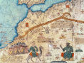 Abraham Cresques - Detail of Detail from the Catalan Atlas, 1375