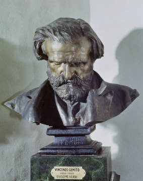 Bust of Guiseppe Verdi (1813-1901) of artist Vincenzo Gemito as framed image
