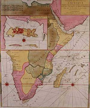 Map Of Africa 1700.Unbekannt Map Countries Africa Including Detail Fortress Art Print