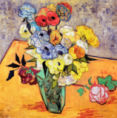 Vincent van Gogh - Stilllife with Japanese Vase, Roses and Anemones