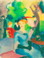 August Macke - Figuren im Park