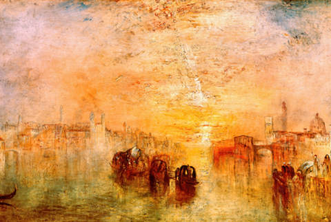 Venice: Going to the Ball (San Martino) von Künstler Joseph Mallord William Turner, Ball, Erdkunde, Feier, Fest, Feste, Gemaelde, Geografie, Geographie