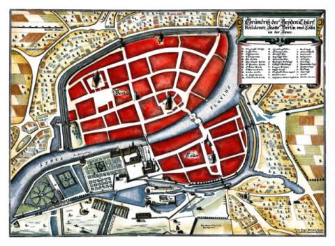 Memhardt Berlin Stadtplan 1650 Altester Bekannter Stadtplan