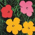 Andy Warhol - Flowers, 1964  (1 red, 1 pink, 2 yellow)